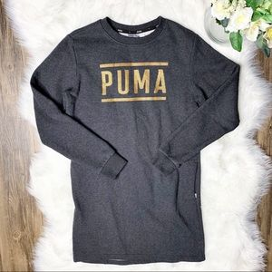 • Puma Athleisure Fleece Sweatshirt Dress •